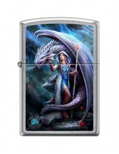 Bricheta Zippo 8015 Anne Stokes-Woman & Dragon