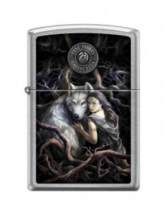 Bricheta Zippo 5815 Anne Stokes-Woman With Wolf