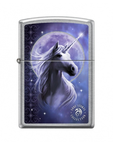 Bricheta Zippo 7691 Anne Stokes-Unicorn With Moon