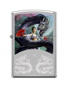 Bricheta Zippo 2919 Anne Stokes-Woman & Dragon