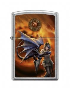 Bricheta Zippo 8020 Anne Stokes-Woman & Dragon