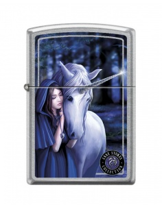 Bricheta Zippo 7692 Anne Stokes-Woman With Unicorn