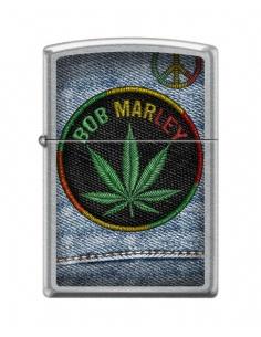 Bricheta Zippo 7306 Bob Marley-Marijuana Leaf/Peace Sign