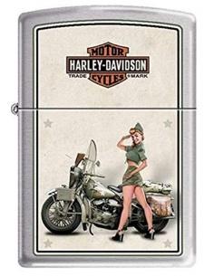 Bricheta Zippo 9939 Harley Davidson-Army WWII Pinup