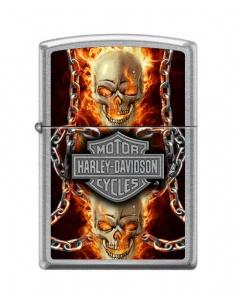 Bricheta Zippo 7376 Harley Davidson-Skull & Flames