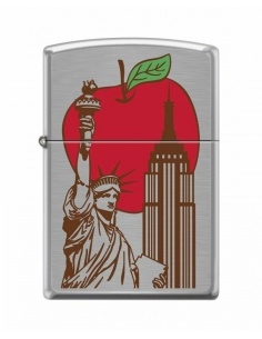 Bricheta Zippo 6384 Statue of Liberty & Big Apple-New York