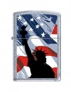 Bricheta Zippo 2277 Statue of Liberty-USA Flag