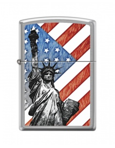 Bricheta Zippo 7619 Statue of Liberty-Flag