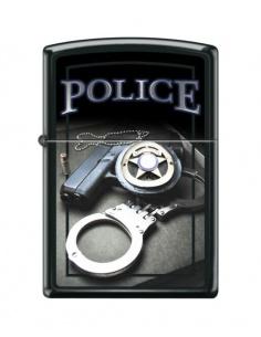 Bricheta Zippo 4015 Police-Gun Badge & Handcuffs