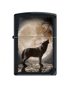 Bricheta Zippo 3731 Wolf Howling at Moon