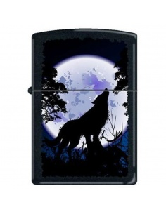 Bricheta Zippo 0024 Wolf Howling at Moon