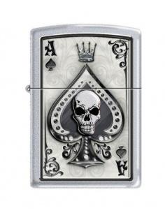 Bricheta Zippo 4858 Ace of Spades-Skull