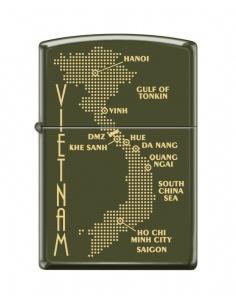 Bricheta Zippo 0585 Map of Vietnam