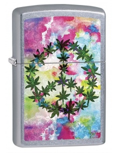 Bricheta Zippo 6687 Marijuana/Pot Leaves-Peace Sign