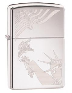 Bricheta Zippo 2265 Statue of Liberty-Flag