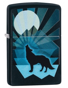 Brichetă Zippo 29864 Wolf Howling at Moon