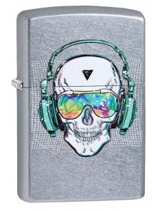 Brichetă Zippo 29855 Skull-Headphones-Sunglasses