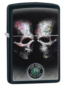 Brichetă Zippo 29754 Anne Stokes-2 Skulls-Floral