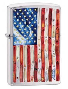 Bricheta Zippo 49145 Rick Rietveld American Flag Brushed