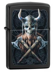 Bricheta Zippo 49106 Anne Stokes Viking Skull Design