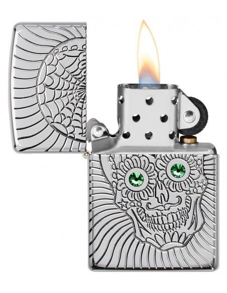 Bricheta Zippo 49172 Armor Sugar Skull Design
