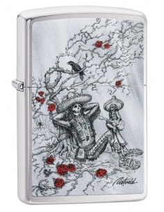 Bricheta Zippo 49144 Day of the Dead Design