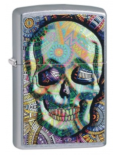 Bricheta Zippo 49140 Geometric Skull Design