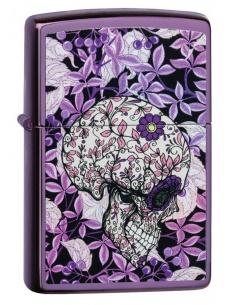 Bricheta Zippo 49159 Floral Hidden Skull Design