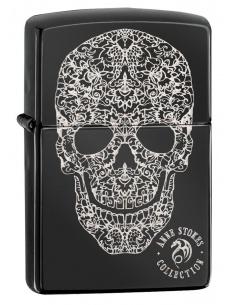 Bricheta Zippo 49143 Anne Stokes Skull Design