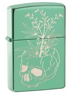 Bricheta Zippo 49142 Botannical Skull Design