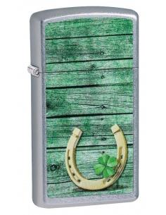 Bricheta Zippo 49123 Slim Horseshoe Design