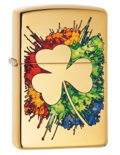 Bricheta Zippo 49125 Graffiti Clover Design