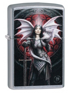 Bricheta Zippo 49096 Anne Stokes Dragon Warrior