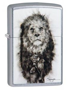 Bricheta Zippo 49088 Spazuk Lion and Rose