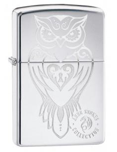 Bricheta Zippo 49101 Anne Stokes Owl Design