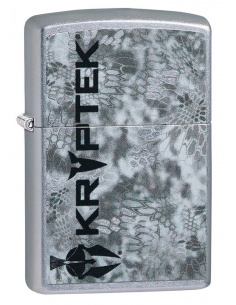 Bricheta Zippo 49178 Kryptek Logo With Gray Camo Design