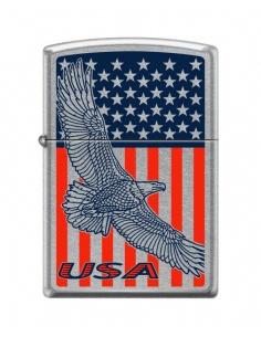 Brichetă Zippo 8681 USA Flag & Eagle