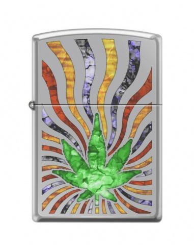 Bricheta Zippo 0194 Marijuana Leaf Fusion Design
