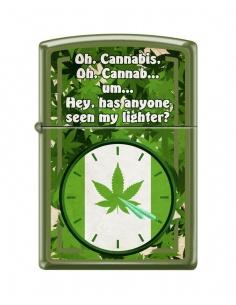 Bricheta Zippo 7496 Cannabis Clock