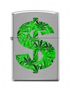 Bricheta Zippo 7811 Marijuana Leaf Dollar Sign
