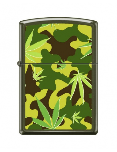 Bricheta Zippo 7817 Marijuana Leaf Camoflage