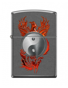 Bricheta Zippo 0822 Red Phoenix - Yin and Yang