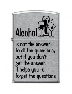 Bricheta Zippo 4715 Alcohol Helps Forget the Questions