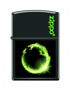 Bricheta Zippo 4811 Green Fire Dragon Ring