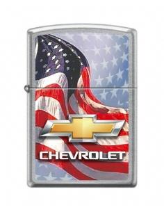 Bricheta Zippo 0009 Chevrolet Logo & American Flag