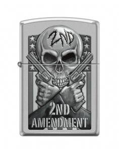 Bricheta Zippo 4932 2nd Amendment - Skull and Guns